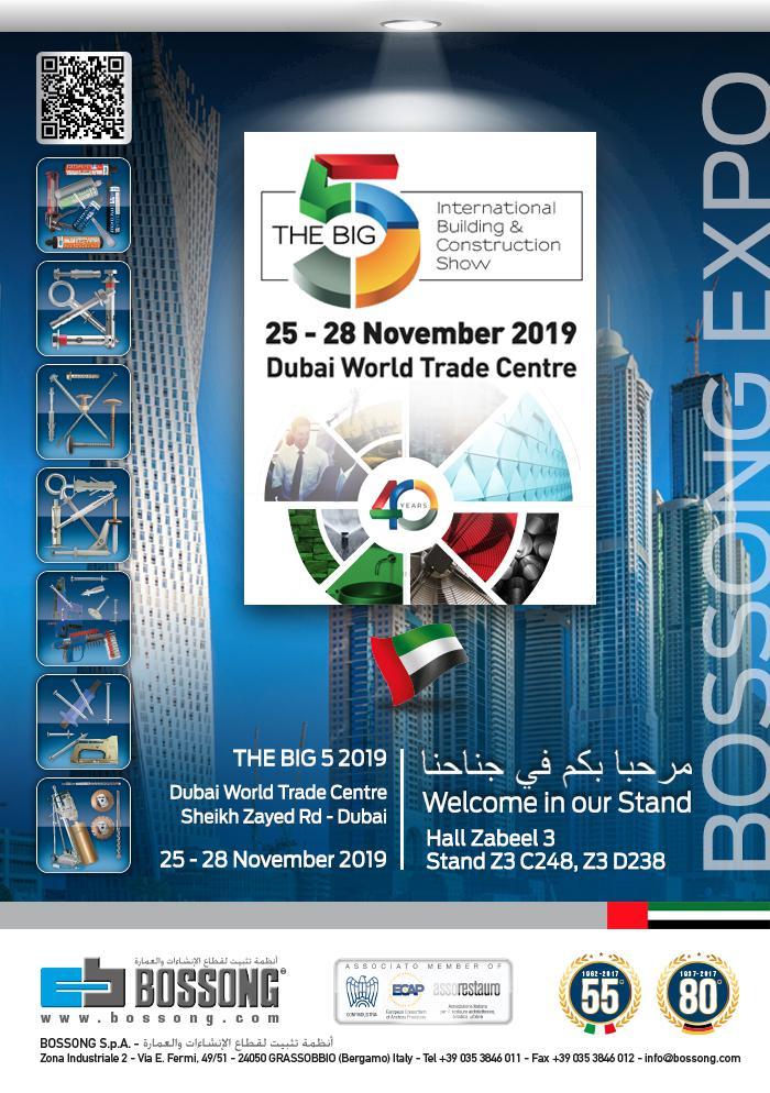 VISIT US @ THE BIG 5, DUBAI 25-28 NOVEMBER 2019